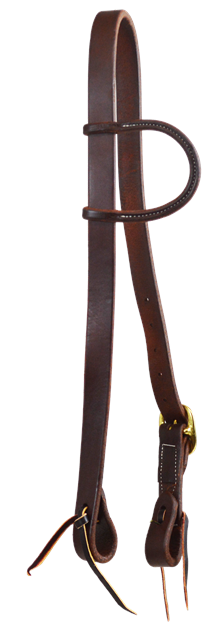 """BRIDLE 1/"""" ONE EAR SLIT HARNESS LEATHER HEADSTALL Made in Texas"""
